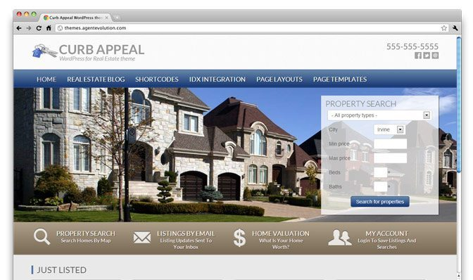 Curb Appeal Real Estate Theme